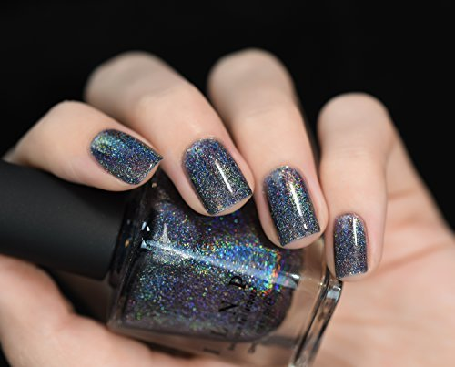 ILNP Cosmetics, Inc. Ilnp Maiden Lane Charcoal Grey Ultra Holographic Nail Polish