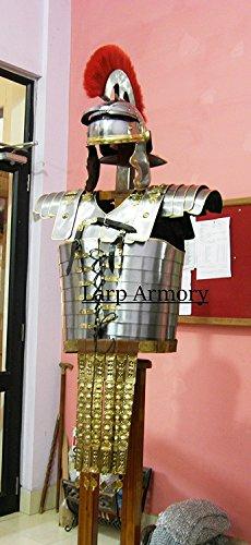 ches Mart Roman Lorica Segmentata Armor mit Angesetztem Roman Cingulum Gürtel und Centurion Helm ()
