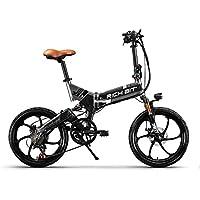 Rich Bit® RT730 Vélos électriques Assistance Vélos plaints 7 Vitesses Cadre pliant Chargeur Mobile Air Assorb Suspension Freins à disque 20'' Roue Shimano Dérailleur Rayons