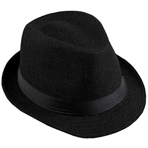 KYEYGWO Fedora-Hut Mode Filz Gangster Hüte für Mann und Frau, Trilby Snap breiter Krempe Vintage Style Dress Hut