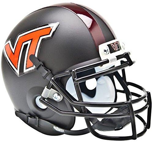 NCAA Virginia Tech Hokies Sammlerstück Alt 1Mini Helm, matt schwarz Virginia Tech Hokies Football