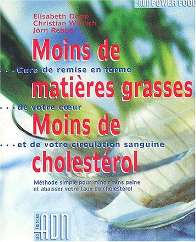 Moins de matières grasses, moins de cholestérol