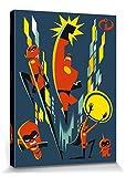1art1 115473 Die Unglaublichen - 2, Bob Parr, Helen, Violet, Flash, Mr. Incredible, Elastigirl Poster Leinwandbild auf Keilrahmen 80 x 60 cm