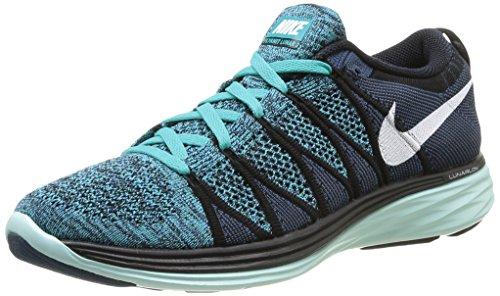Nike Flyknit Lunar2, Scarpe sportive, Uomo Black/White Sprt Turq Chlrn Bl