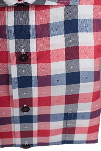 eterna -  Camicia classiche  - A quadri - Classico  - Uomo Rot