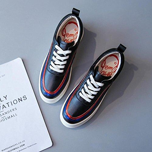 Chaussures à Plateformes Femme WSXY-A1409 Chaussures de Course Sports Fitness Baskets Sneakers,KJJDE black