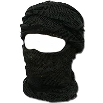 Shemagh keffieh cheche US - Maille filet noir - 190cm x 90cm - Airsoft - Paintball - Outdoor