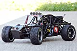RC MONSTER STRAND BUGGY TRUCK 2WD, RTR 31ccm 3,5PS 80Km/h 1:5 + 6x LED 2,4Ghz NEU (Schwarz)