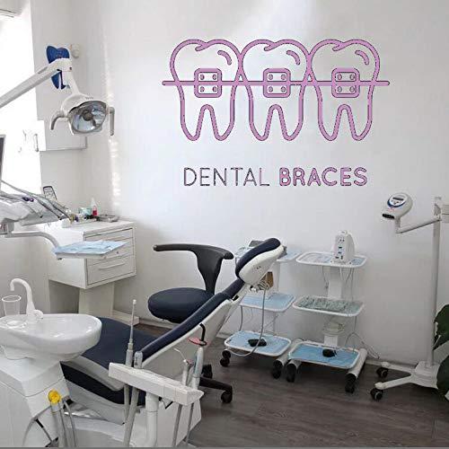 Zahnpflege Wandaufkleber Zahnklinik Vinyl Wandtattoo Abnehmbare Dental Shop Dekoration Abnehmbare Quote Fenster Aufkleber 65x42 cm