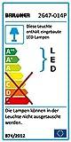 Briloner Leuchten LED Steckerleuchte, Steckerlampe, Klemmleuchte, 1 x LED-Platine, 4 Watt, 240 Lumen, Flexarm, titanfarbig 2647-014P