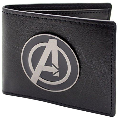 Marvel Avengers Assemble Schwarz Portemonnaie Geldbörse