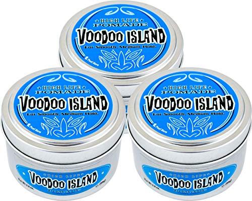 High Life Pomade Vodoo Island, für sanften mittelstarken Halt, für alle Haartypen geeignet, 3er Sparpack 2+1 (3x 99g)