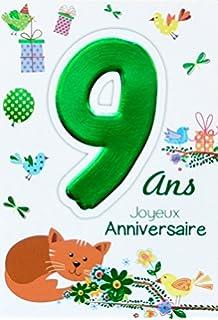 Fournitures De Bureau Cartes Postales Afie 69 2106 Carte Joyeux Anniversaire 6 Ans Enfant Garcon Fille Gteau 6 Bougies Papillons
