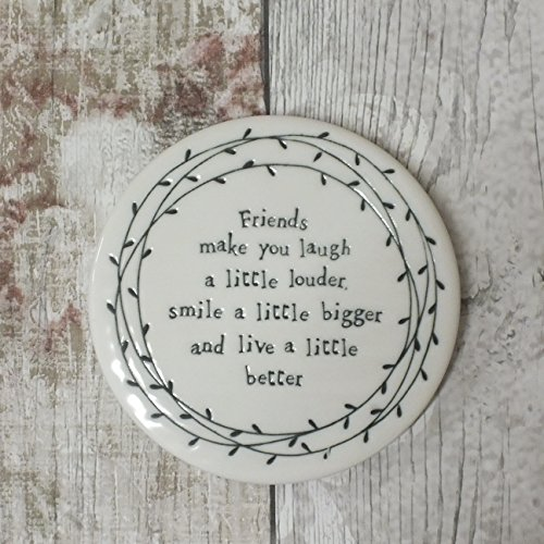 east-of-india-porcelain-leaf-coaster-friends-make-you-laugh-a-little-louder-smile-a-little-bigger-an