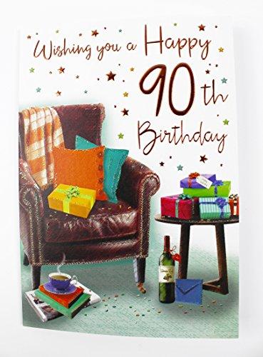 stagskarte zum 90. Geburtstag für Ihn Male Herren Qualität Vers Alter Milestone ()