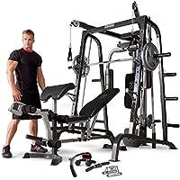 Marcy MD-9010G - Máquina de gimnasia (máquina Smith, banco de pesas extraíble