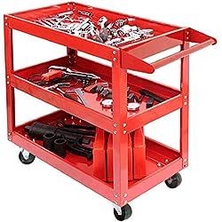 Multiware Chariot Servante D'Atelier À Outil Stockage Avec Roulettes 3 Étagères