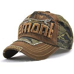 Yooeen Gorras de béisbol Mujer Hombre Ajustable Gorra de Beisbol Clásico Camuflaje Gorra Militar Gorras Algodón Bordado Hip-Hop Cap Hat Snapback