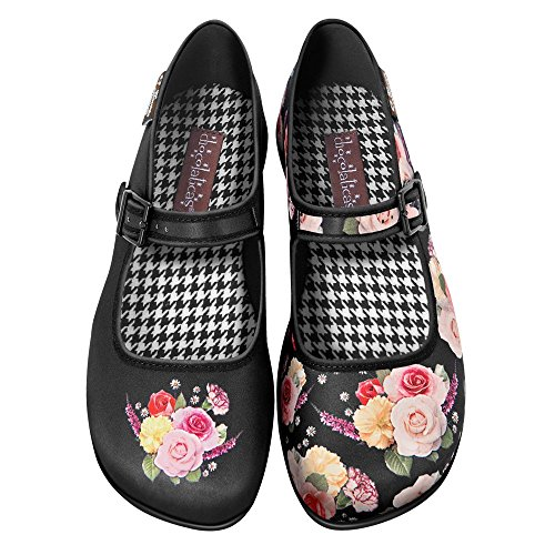 Hot Chocolate Design Chocolaticas Velvet Garden Ballerine Mary Jane basse da donna US 8 multicolore