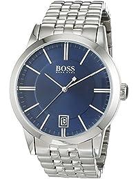 Hugo Boss Herren-Armbanduhr Analog Quarz Edelstahl 1513135