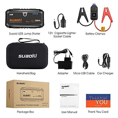 51GSbdfdHuL. SS416  - SUAOKI u282000A Punta De Auto Arranque batería de Arranque, con USB Power Bank, Pantalla LCD