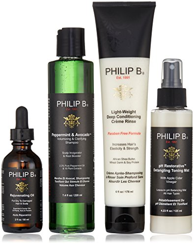 Philip B Four Step Hair + Scalp Treatment Kit Paraben Free (Creme Deep Conditioning)