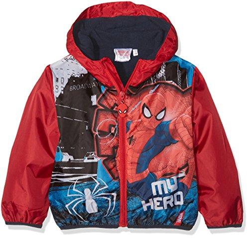 Disney spiderman giacca impermeabile bambino, rosso 128 (taglia produttore:8 anni)