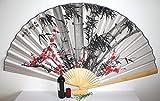 Großer Dekofächer 055 aus Papier und Bambus, offen 160 cm