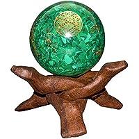 Crocon Blume des Lebens Anhänger, für Reiki, Heilung, Chakra, Malachit, grün, Orgon, Balance, Felder, 50–60mm preisvergleich bei billige-tabletten.eu
