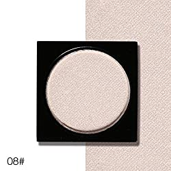 9th Avenue 08: Ucanbe Shimmer Eye Shadow Single Palette 26 Colors DIY Pressed Eyeshadow Lasting Pigment Matte Nude Natural Minerals Make Up