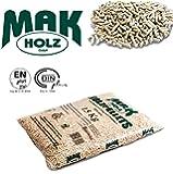 5 sacchi pellet MAK Holz austriaco chiaro abete bianco certificato EN / DIN PLUS