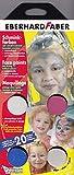 Faber-Castell 889002 - 4 Schminkfarben Girly mit Schwamm