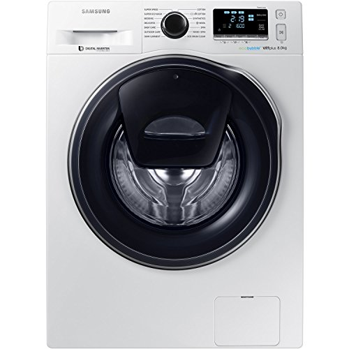 Samsung WW80K6610QW/EU 8kg Load, 1600 Spin AddWash™ Washing Machine with ecobubble™ Technology - White Best Price and Cheapest