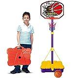 579620331aec Bakaji Basket Canestro Valigetta Portatile per Bambini con Piantana Altezza  Regolabile fino a 162 cm con