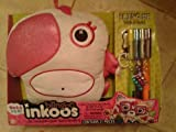 LARGE Blingoo Inkoos Plush PARROT with Gems, Glitter Glue Pens & Markers - PINK and WHITE by the bridge by The Bridge