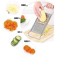qiecaiqi Rodajas de patata vegetal_Home Cocina Cortador multifunción Rábano Rub vegetal vegetal Tajada Papa artefacto,