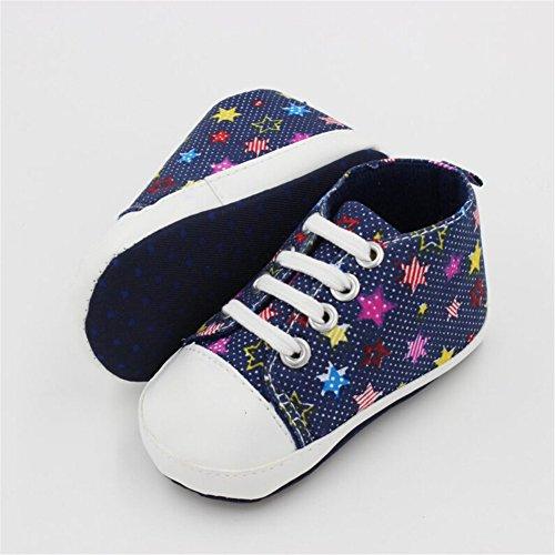 Luerme Babyschuhe Kleinkind Segeltuch Schuhe Niedlich Weiche Sohle Turnschuhe Lauflernschuhe Navy Blau