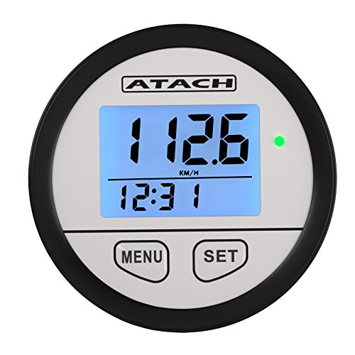 marine and UTV Black//Black Bezel ATACH 60mm Digital GPS Speedometer with backlight display and high speed recall for car motorcycle