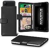 Aventus Wiko Elephone Trunk Schwarze Premium-PU-Leder