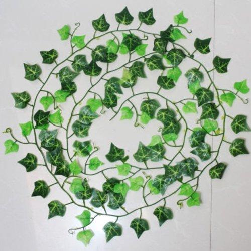 künstlicher Efeu Pflanzen Vine Fake Blattwerk Blumen Home Decor, grün, Einheitsgröße (Fake-efeu-blätter)