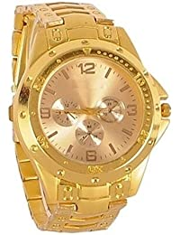 PL-007 Analogue Gold Dial Men's Watch
