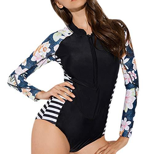 MOTOCO Sommer Damen Größen Bikini Set Frau Oberteil Swim Kleid Badeanzug Beachwear Badeanzüge Für Beach Party Swimdress Tauchanzug(M(36),Schwarz)