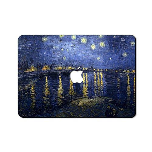 Ölgemälde Kollektion Hochwertige Hartschale Ultra Dünn Snap Case Schutzhülle Für New MacBook Pro 15 Zoll mit Touch Bar(Modelle: A1707) (sternenklare nacht über der rhone)