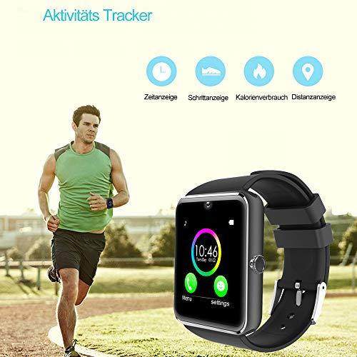 YAMAY Bluetooth Smartwatch Fitness Uhr Intelligente Armbanduhr Fitness Tracker Smart Watch Sport Uhr mit Kamera Schrittzähler Schlaftracker Romte Capture Kompatibel mit Android Smartphone - 2