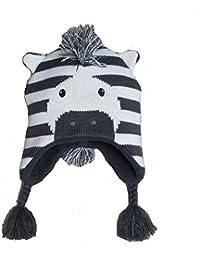 GGBaby@ Kleinkind Strickmütze Niedliches Zebra-Form Mütze mit Ohren Ohrenklappenmütze Baby Kinder Mädchen Jungen Wintermütze