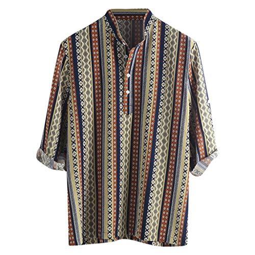 Stampa Brasiliana Strisce 3xl Maniche Camicetta Forti Etnico Collo Dragon868 Metà Bottone Alto Afro T Uomo Shirt Taglie 2DbHWEIYe9