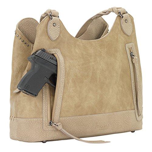 American West Bandana Slouch Hobo Handbag Sand Guns And Roses