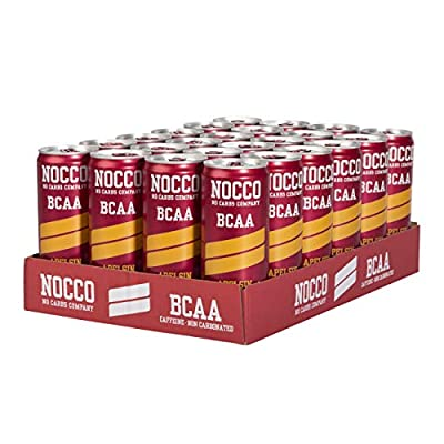 NOCCO BCAA Energy Drink 24 x 330 ml, 180 mg Caffein by NOCCO