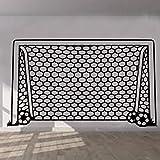 Dalxsh Aufkleber Fußball Tor Net Wandaufkleber Kunst Kinderzimmer Jungen Mädchen Decor Vinyl Wandbild Wohnzimmer Wohnzimmer 58X34 Cm
