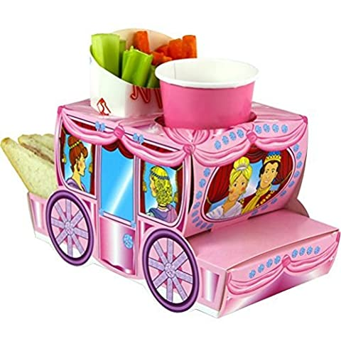 x15 Pink Cinderella Princess Coach - Party Meal Food Trays - Snack Lunch Box Plate Tray by Mustbebonkers